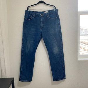 Wrangler Blue Denim Jeans Regular Fit Size 38